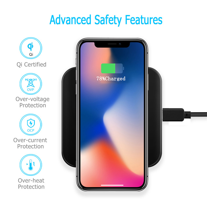 Qi Wireless Charger For Samsung Galaxy A10 A20 A20e A30 A40 A50 A60 A70 A80 Case Mobile Accessory Wireless Charging Pad Receiver
