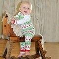 2 шт. Рождественские Детские Девочки Мальчики С Длинным Рукавом Сочельник Ночное Пижамы Установить Пижамы Костюм CY1