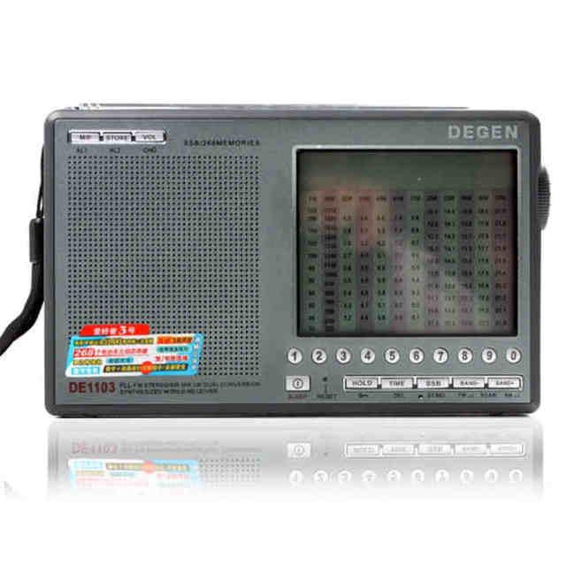 מקורי Degen DE1103 DSP רדיו FM SW MW LW SSB העולם הדיגיטלי מקלט & חיצוני אנטנת רדיו FM