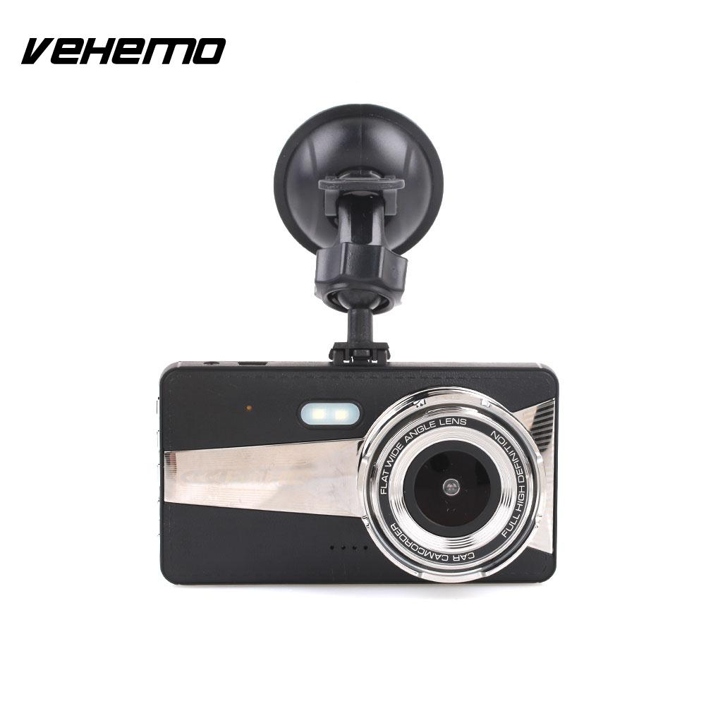 2018 Dash Cam Durable Car DVR 4 Inch Automobile Parking Monitor Driving Recorder Motion Detection