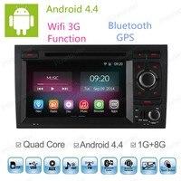 Android 4.4 4 Core Auto DVD GPS Navigator Voor Audi A4 2003 2004-2011 met Radio Speler Ondersteuning DVR 2G/16 GB HD