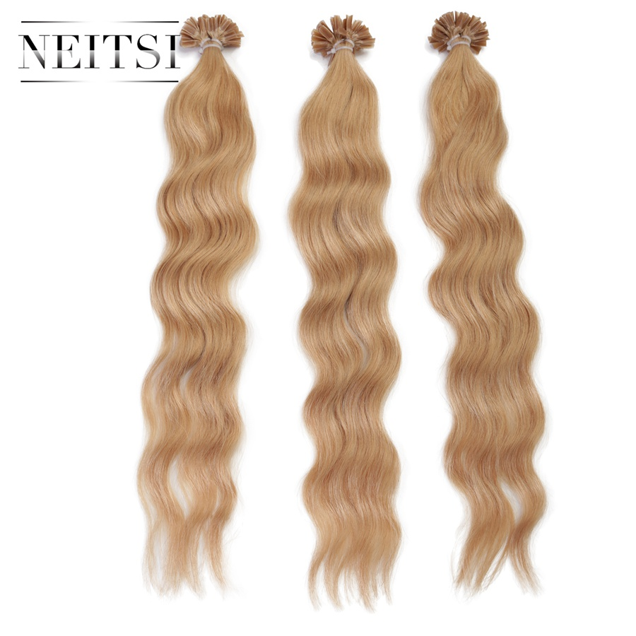 Machine made picture more detailed picture about neitsi pre bond neitsi pre bond u nail tip keratin human hair natural wave extension machine made remy fusion pmusecretfo Choice Image