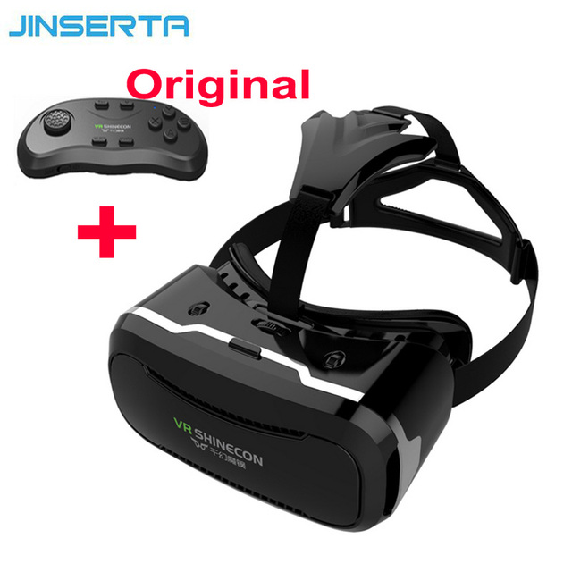 """Newest VR Shinecon Glasses II 2.0 Version VR Box Virtual Reality 3D Glasses with Original Bluetooth Gamepad for 4.7-6.0"""" Phone"""
