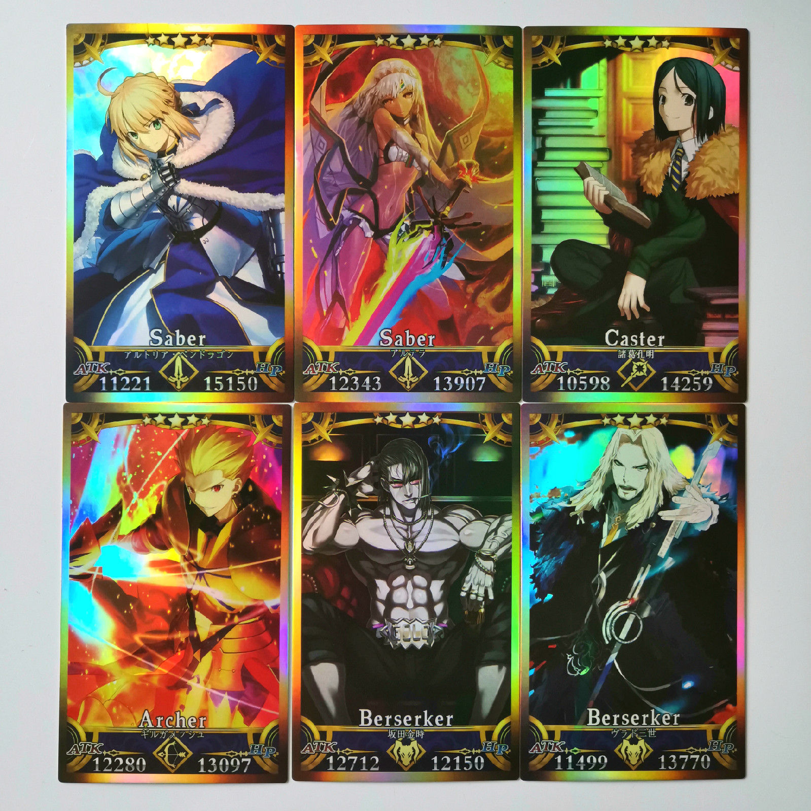 62pcs/set Fate/FGO The Holy Grail War Alter Toys Hobbies Hobby Collectibles Game Collection Anime Cards