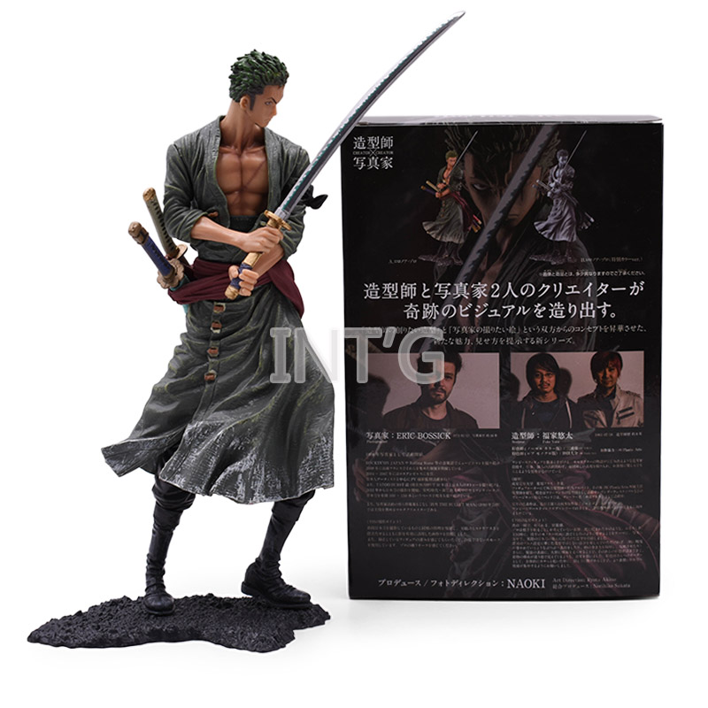 "8"" 20 Cm  Japan Anime One Piece Action Figure Roronoa Zoro PVC Cartoon Figurine Toys Juguetes Collectible Model Boy Gift Doll"