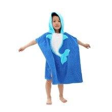 Банное полотенце капюшоном младенческой халат животных ребенок мультфильм детские дети с