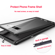 LUPHIE Metal Frame with Gorilla Glass Case For Samsung Galaxy Note 8