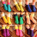 2015 New Arrival Girls Patchwork Socks Girls Dress Socks  Baby Girl Socks Candy Color Free Shipping