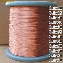 ChengHaoRan 1 متر 0.1x10 0.1x15 0.1x20 0.1x25 0.1x30 0.1x35 0.1x40 0.1x50 0.1x60 0.1x70 0.1x80 0.1x90 حبلا الملتوية النحاس سلك