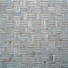 Seamless freshwater mother of pearl mosaic tile for home decoration wall tile 1 square meter/lot convex pattern AL060