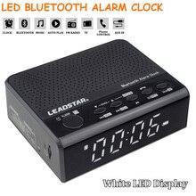 лучшая цена Multi-function Digital LED Wireless Bluetooth Alarm Clock  Stereo Speaker Support TF with Hands-free Call Alarm Clocks With Mic