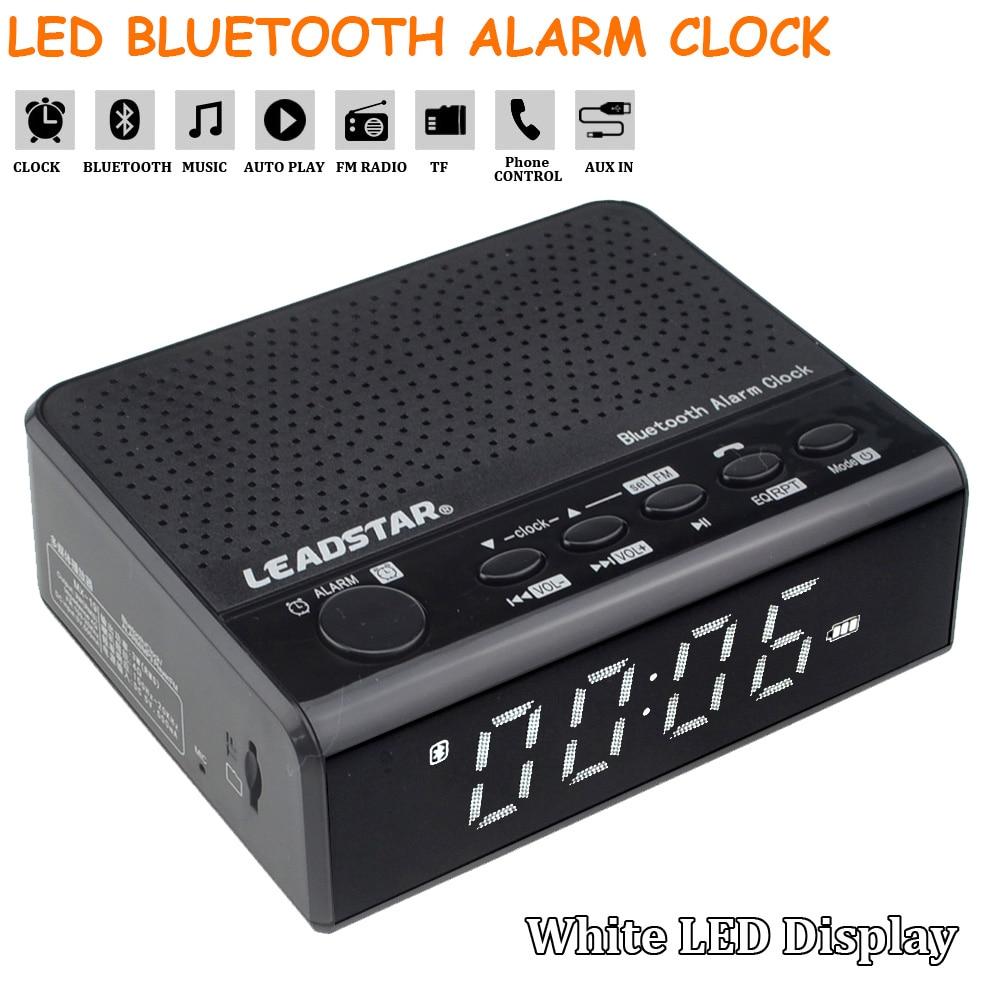 Multi-function Digital LED Wireless Bluetooth Alarm Clock St