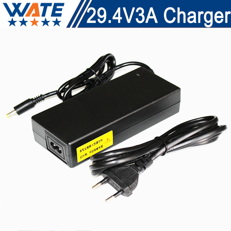 29.4V 3A Charger 7S 24V Li-ion Battery Charger Output DC 29.4V Lithium polymer battery Charger Free shipping