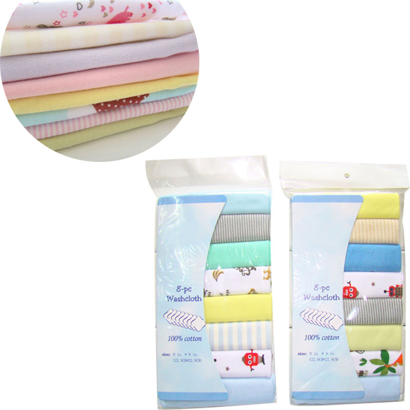 8Pcs/Lot 100% Cotton Newborn Baby Towels Baby Boys Girls Washcloth Handkerchief Nursing Towel Bibs Feeding Napkins Bath Towel