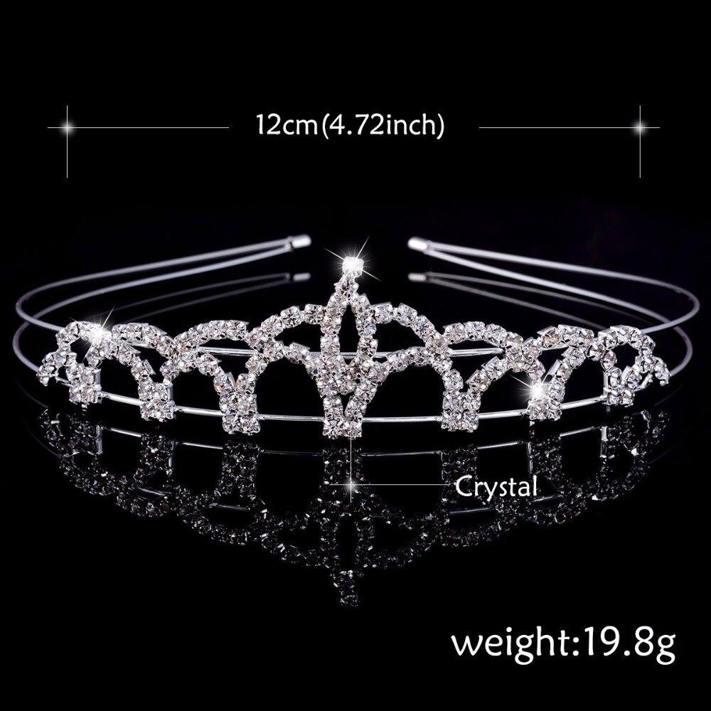 Toy Gəlin Gəlin Gəlin Tiara Crown Headband Ürək Qızları - Moda zərgərlik - Fotoqrafiya 4