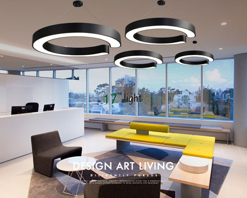 Modern round shaped dining room led pendent lighting simple