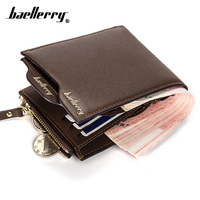 New Wallet Men Designer PU Leather Mens Wallet With Coin Pocket And A Removable Card Holder
