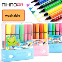 AIHAO Brand Stamp Washable 12 18 24 36pcs Art Marker Children Color Pen High Quality Free