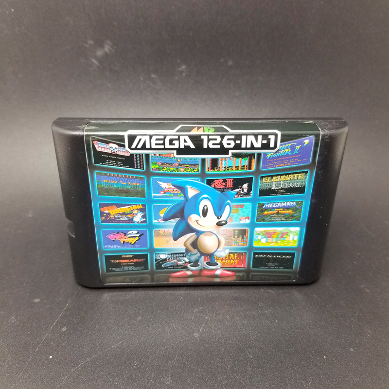 Top 126 in 1 Game For Sega Megadrive Genesis With Game Castlevania Dragon Ball Z Earthworm Jim Ghost Busters Punisher Turtles