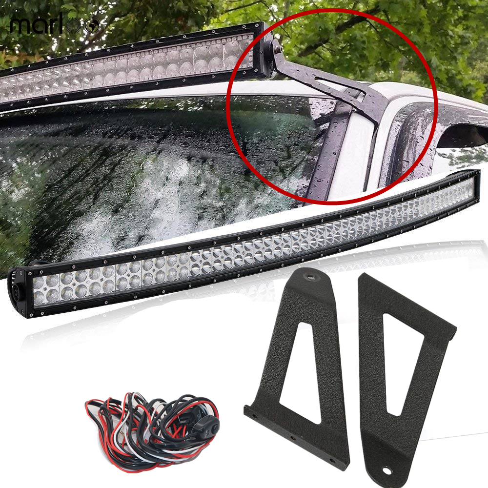 2x Upper Mounting Bracket 50inch Curved Light Bar For 1984-2001 Jeep Cherokee XJ