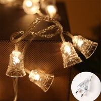 LED String Lights Christmas Bell EU US Plug 10M Holiday Twinkle Fairy Garland Decoration for Garden Wedding Party Xmas Tree Room