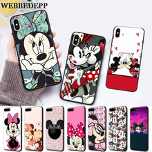 WEBBEDEPP Kiss Mickey Mouse Silicone soft Case for iPhone 5 SE 5S 6 6S Plus 7 8 11 Pro X XS Max XR lavaza cartoon mickey mouse couple silicone case for iphone 5 5s 6 6s plus 7 8 11 pro x xs max xr