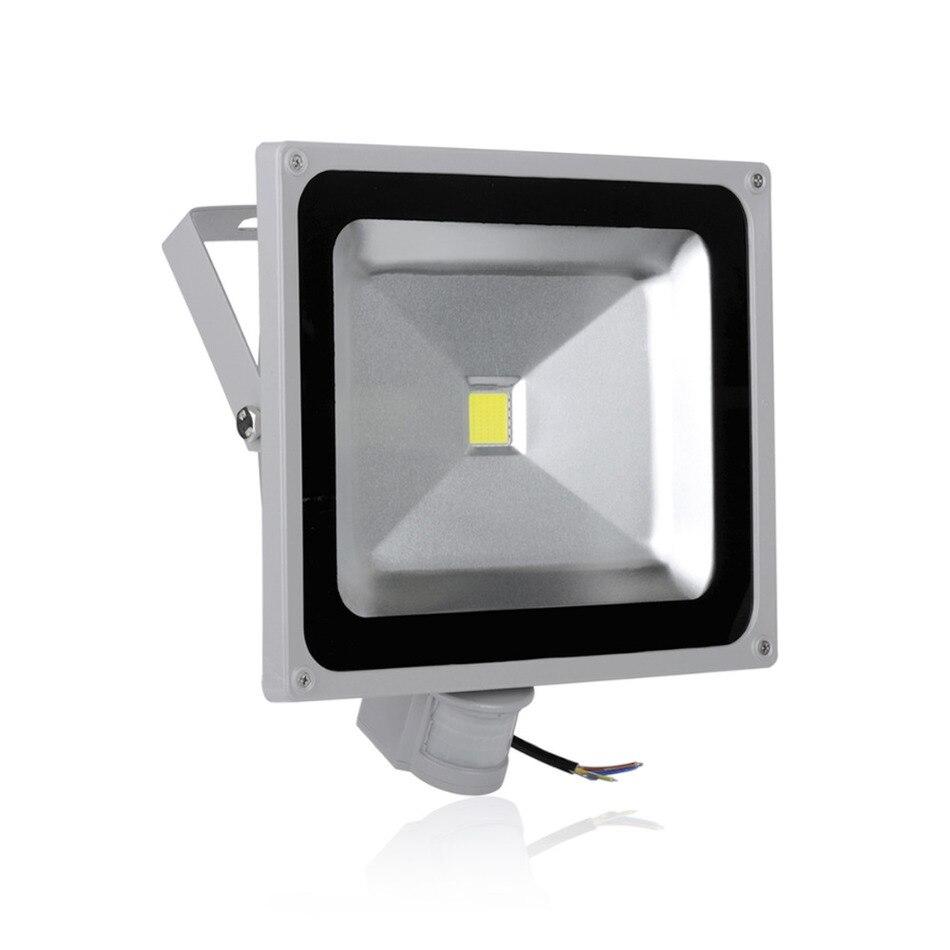 1pcs LED Sensor Flood Light 50W 4500LM IP65 AC85 265V Projector Refletor Led Floodlight Projecteur Led