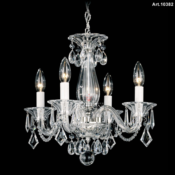 small black crystal chandelier # 29
