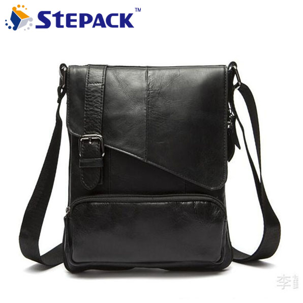Hot Selling Fashion Small Cowhide Men Messenger Bags Business Shoulder Bags For Men Travel Packs WMB0129