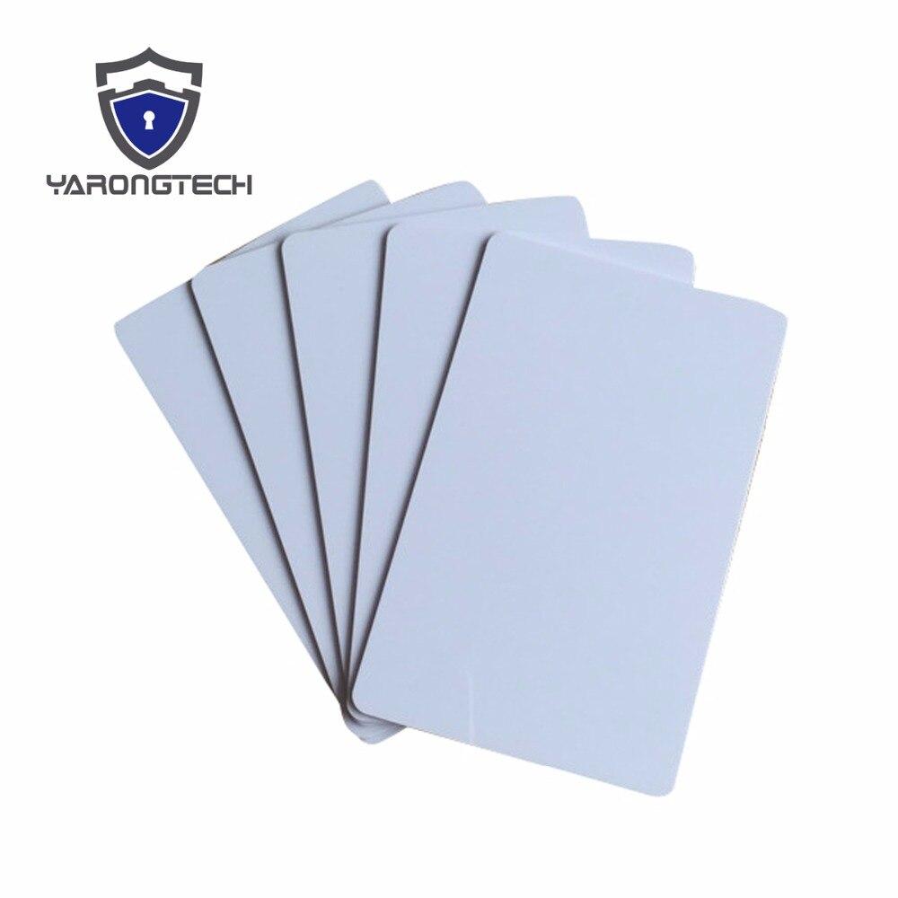 100 Blank Druckbare PVC Kunststoff Foto id Weiß Kreditkarte 30Mil CR80 freies verschiffen