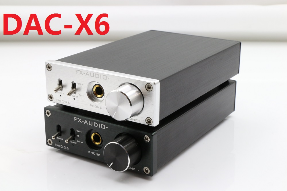 2018 FX-Audio DAC-X6 HiFi 2.0 Digital Audio DAC Decoder Input USB/Optical/Coaxial RCA/Headphone Output DC12V/1.5A Power Adapter digital optical coaxial toslink to analog rca l r audio digital converter adapter dc 5v 1a with usb cable high speed
