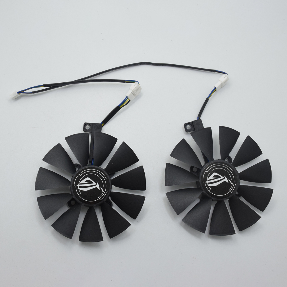 2Pcs/Lot New 87MM T129215SU Cooler Fan Replacement For ASUS GTX 1060ti 1060 1070 RX 470 570 580 Graphics Card Cooling Fans DIY image
