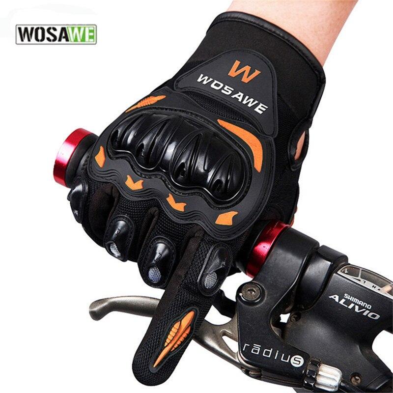 Prix pour WOSAWE Vélo Gants Moto Équipement De Protection Tactique Long Doigt Doux Croix Pays de Baisse Résistance Vélo Gants De Vélo