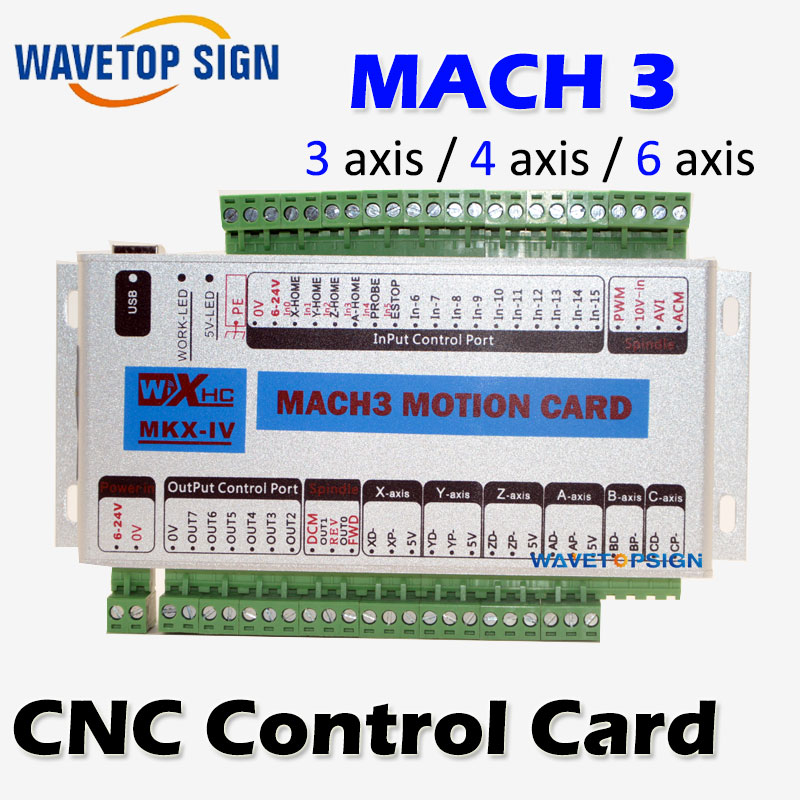 mach 3  cnc control card 3 axis  4 axis 6 axis XHC MK4 CNC Mach3 USB  port support window 7 systerm концентратор usb 3 0 orient bc 305 4 port