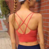 Licht Unterstützung Strappy Sport Bh Sexy Frauen Zurück Quer Nahtlose Fitness Yoga Bh Top Gepolsterte Sport Büstenhalter Aktive Tragen