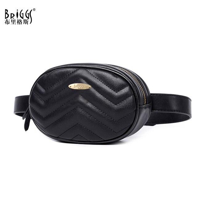Бриггс бренд Для женщин волнистые линии талии поясная сумка Мода круговой груди Сумки Малый Для женщин сумка дорожная сумка поясная 2018 Новый