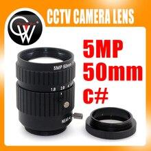 5mp 50 мм 1:1. 8 фиксированный фокус CS/C крепление для видеонаблюдения Объективы для фотоаппаратов/для промышленного видеонаблюдения микроскоп Камера