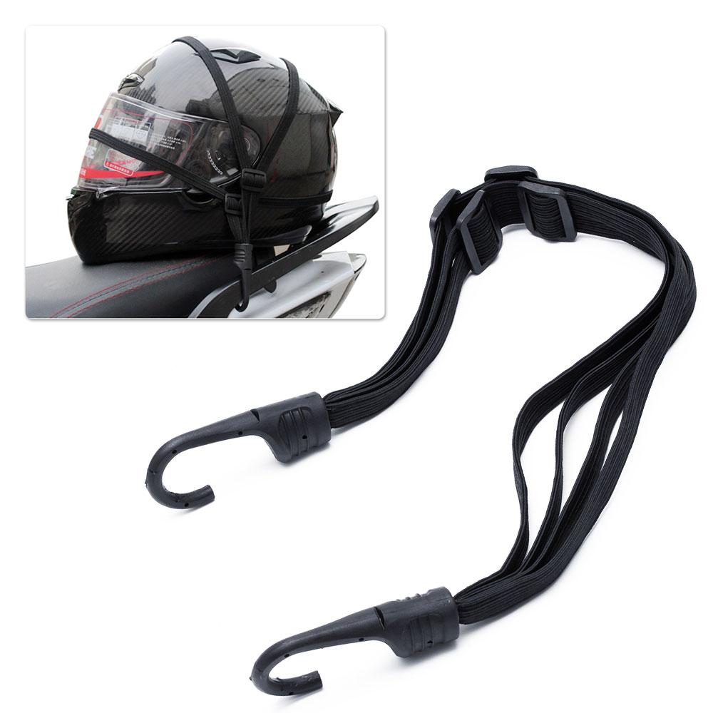 2 Hooks Motorcycles Moto Strength Retractable Helmet Fuel Tank Luggage Elastic Rope Strap Net Belt