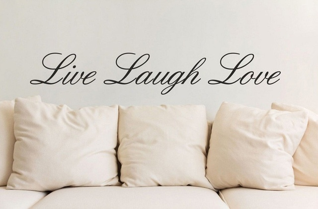 Home Garden Decor LIVE LAUGH LOVE Wall Art Quote Vinyl Decals Wall Stickers  For Living Room Kids Boy Gilr Bedroom Fashion DIY Part 68