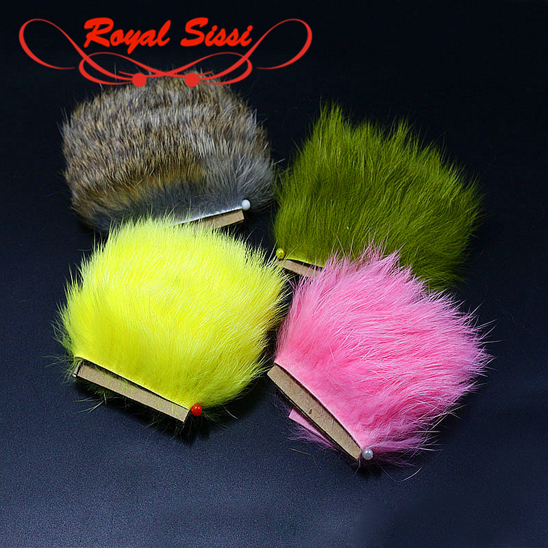 11 Optional Colors Fly Tying Crosscut Rabbit Zonker Strips Genuine Rabbit Fur Hair Hare's Dub Fibres Salmon Fly Tying Materials