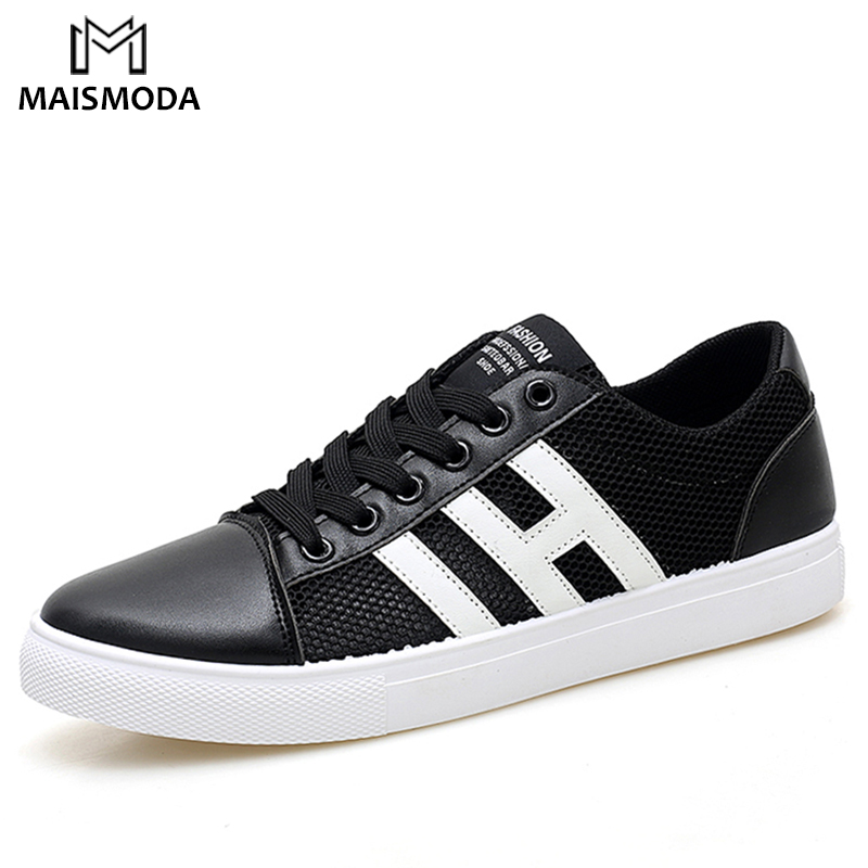 MAISMODA 2018 Summer Breathable Mesh Men Casual Shoes Lace Up Comfortable Sneakers Mesh Flats Couple Shoes Plus Size 38-48 все цены