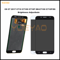 Display For SAMSUNG GALAXY C8 LCD C7100 Display Touch Screen Digitizer Assembly C710F Replacement For 5.5 For SAMSUNG C8 LCD