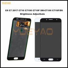 Wyświetlacz do SAMSUNG GALAXY C8 LCD C7100 wyświetlacz ekran dotykowy Digitizer zgromadzenie C710F zamiennik dla 5 5 dla SAMSUNG C8 LCD tanie tanio YUEYAO Pojemnościowy ekran Nowy C8 C7 2017 C710 C7100 C710F SM-C7100 C710F DS 1920x1080 3