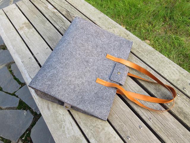Sight focus brand grey felt tote bag shoulder bag lightweig fashion recycling totes woman bag vilten tas bolso gris mujer