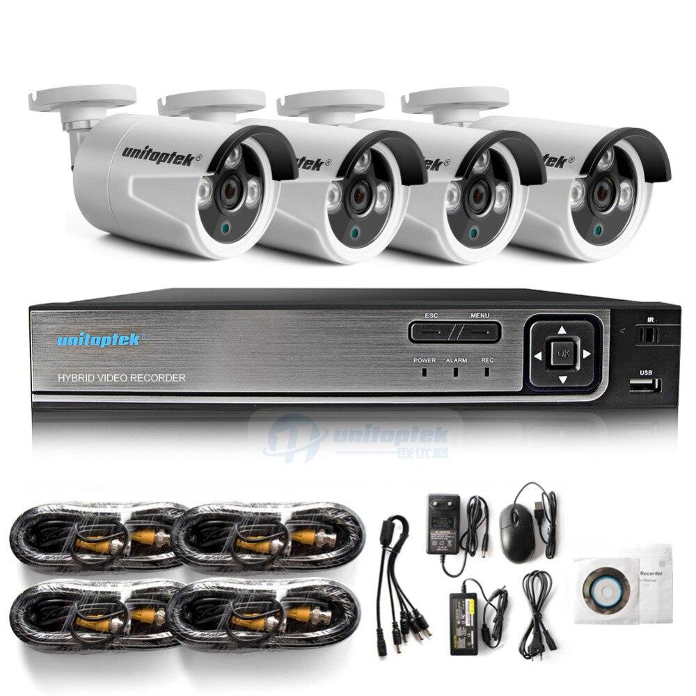 4CH 1080 P AHD DVR sistema de Video vigilancia con 4 piezas 2000TVL 2MP seguridad AHD cámaras al aire libre casa de seguridad CCTV kit de cámara - 5