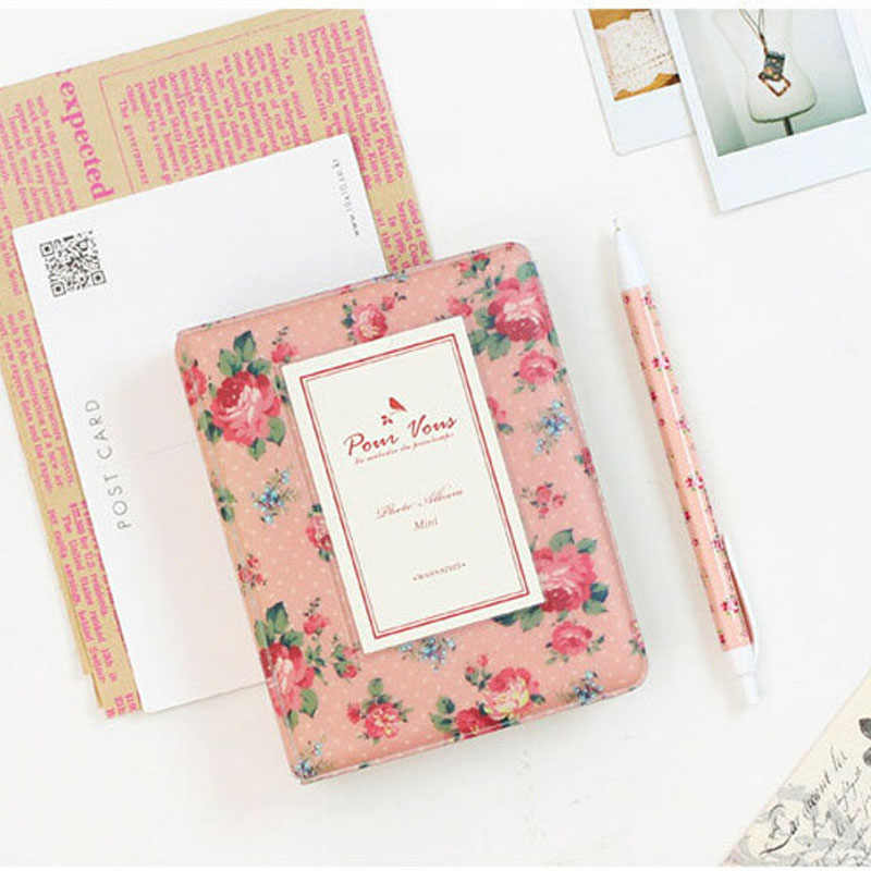 64 Pockets Book Album for Fujifilm Instax instant Mini 8 7s 70 25 50s 90 Mini Films 3/4 inch Photo paper