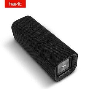 Image 1 - HAVIT 휴대용 블루투스 스피커 야외 서브 우퍼 3D 스테레오 라우드 스피커 마이크가있는 무선 스피커 마이크 SD 카드 AUX M16