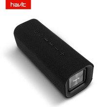 HAVIT مكبر صوت بخاصية البلوتوث قابل للنقل في الهواء الطلق مضخم صوت 3D ستيريو مكبر الصوت مكبر الصوت اللاسلكي مع ميكروفون SD بطاقة AUX M16