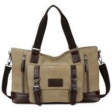 Factory wholesale new three-dimensional design horizontal section square mens canvas bag Korean leisure travel handbag