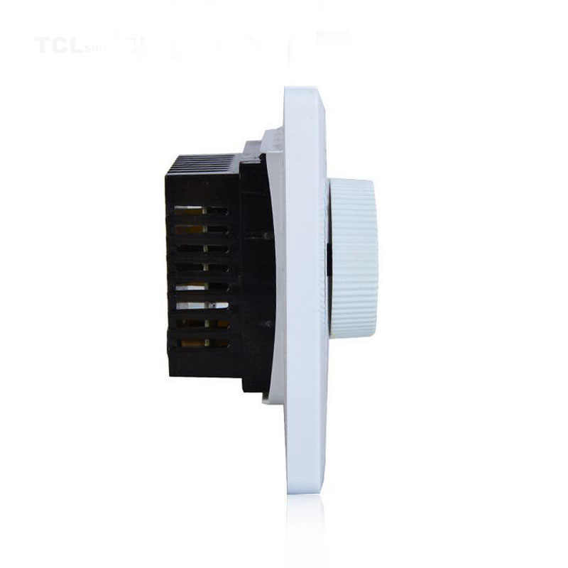 Anti-flame Dimmer Light Switch PC Material White Wall Mounted for Control  Ceiling Fan Speed Control Switch 200W 10A Adjustment